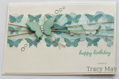 Stampin' Up! UK - Watercolour Backgrounds. Butterfly Collection Wheel, Butterfly punch