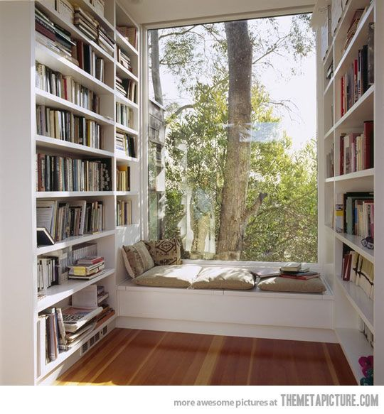 comfy reading place