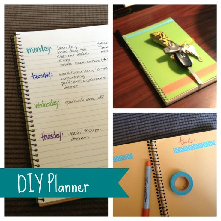 Diy Calendar Notebook : Best images about diy planner on pinterest organizer