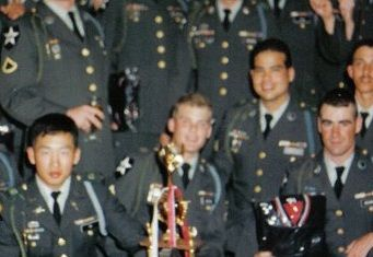 Me in the middle, at the Indian Head Olympics (2ID) award ceremony.  I got first place, along with my team, in the Warrior Ordeal, it was an obstacle course race.  We had several of us in the team, I led our team in the run.  We got a (fake) gold medal, kind of cool.