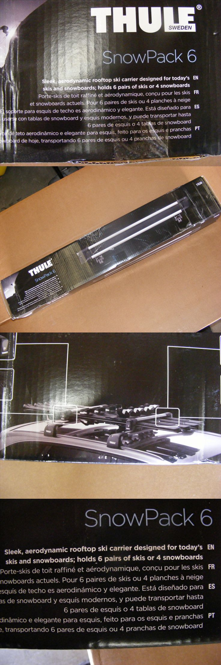 Racks and Carriers 21231: New In Package ,Thule Snowpack 6, # 7326, Car Rooftop Ski Snowboard Carrier -> BUY IT NOW ONLY: $159 on eBay!