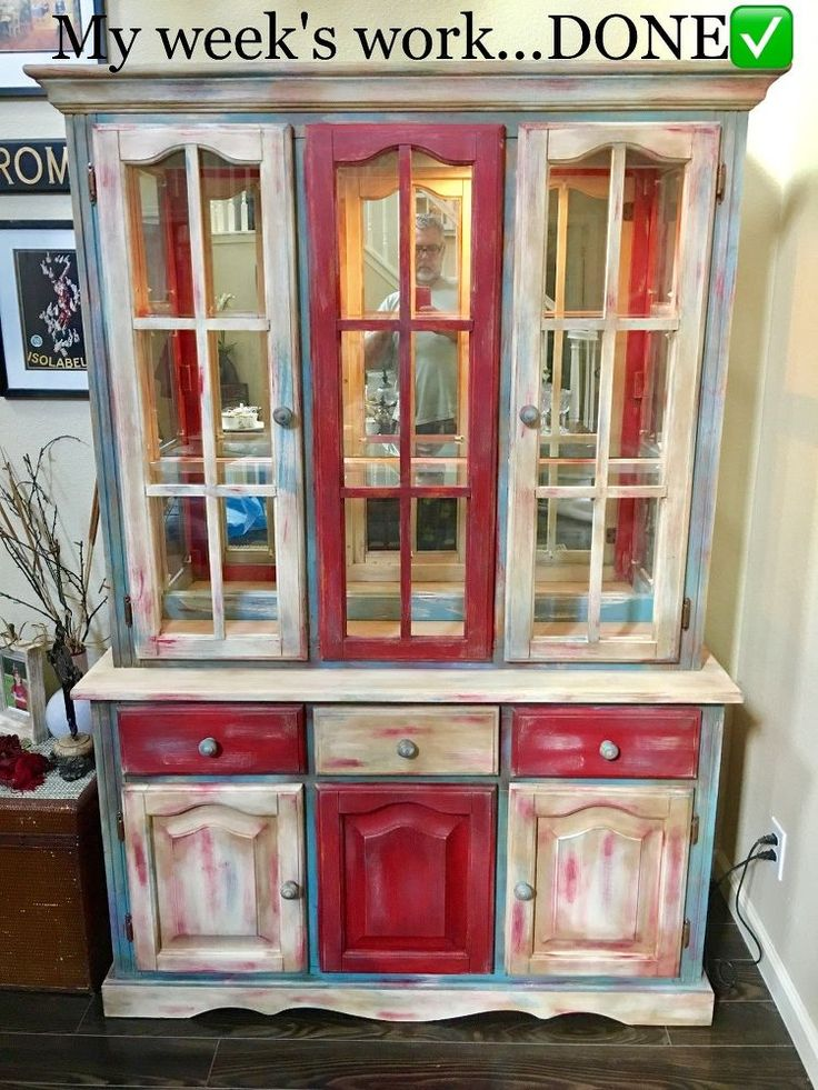 Do THIS to an ugly china cabinet!