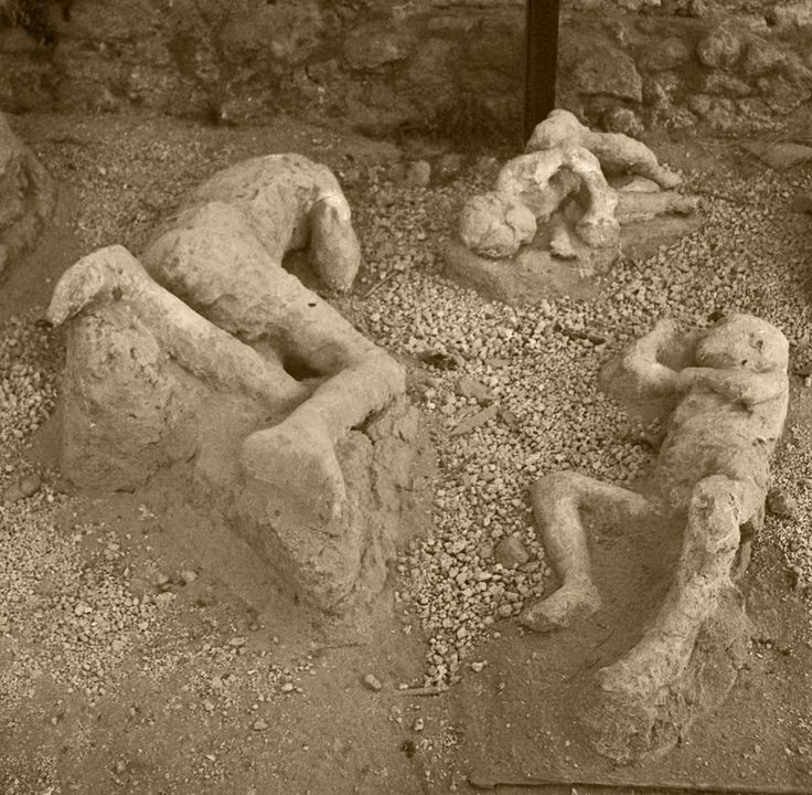 Casts of bodies in Pompeii I cannot wait to go here one day such an amazing and sad place