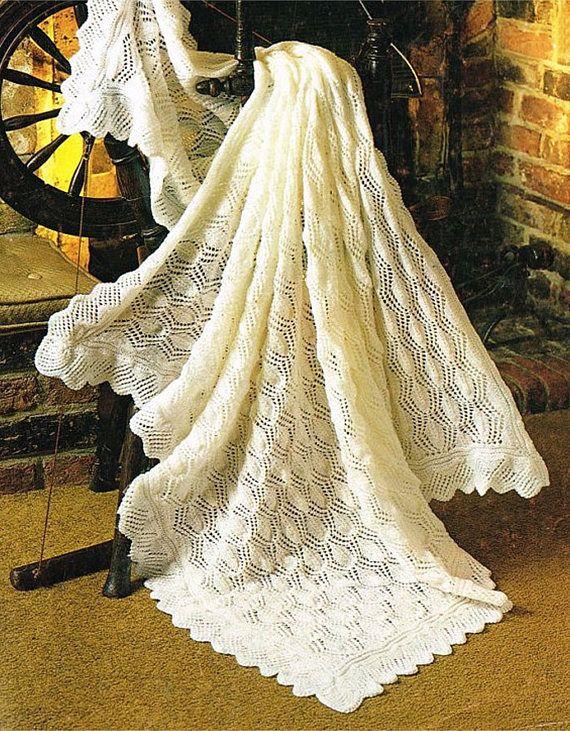 PDF Vintage Pretty Baby Christening Lacy Blanket Shawl