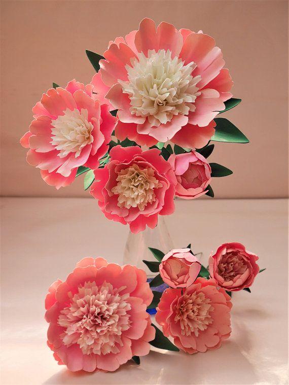Printable Bowl Of Beauty Peony Templates Tutorial