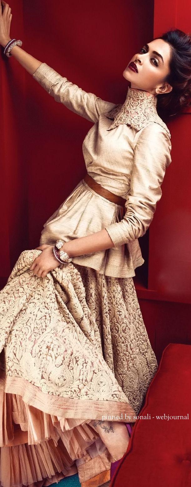 Deepika Padukone in Vogue India June, 2014 - Attire by Shantanu and Nikhil