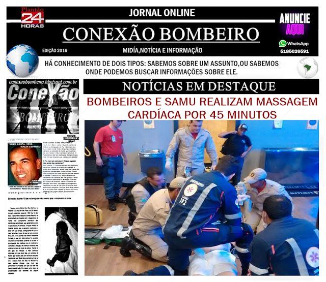CONEXÃO BOMBEIRO : BOMBEIROS E SAMU REALIZAM MASSAGEM CARDÍACA POR 45...