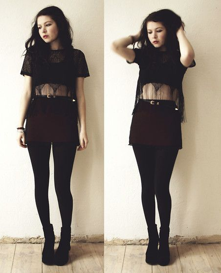 Cute goth style outfit ideas (7)