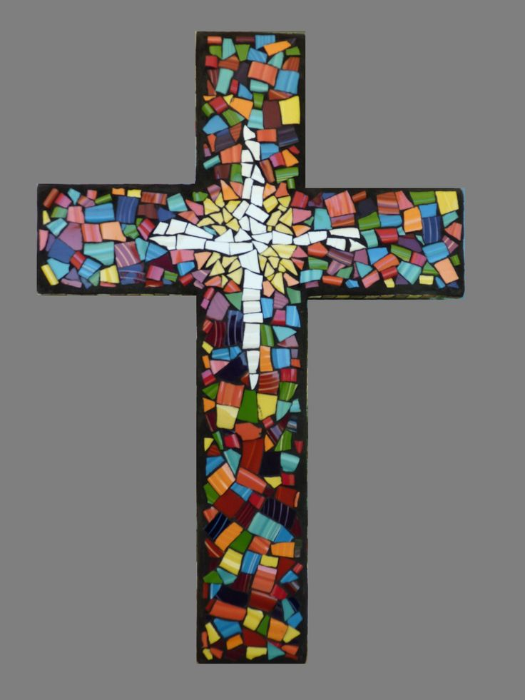 Miscellaneous For Sale | Custom Mosaic China Tile Wall Cross | ArtsyHome