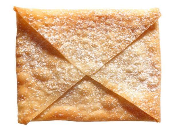 Wonton Envelopes - I use jam or cream cheese or both