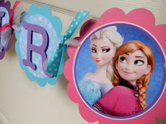 Frozen Birthday Party  Name Banner  Blue by sweetheartpartyshop, $22.00