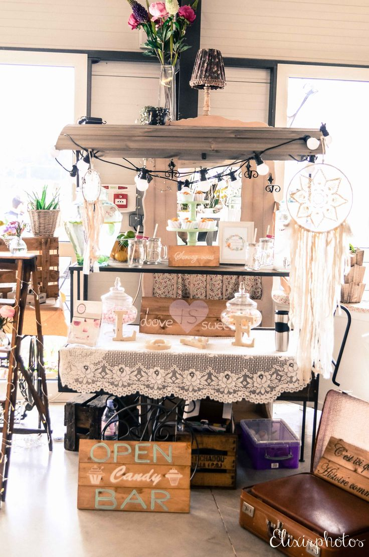 25 best candy bar et locations de d co boh me ma sweet table images on pinterest sweet. Black Bedroom Furniture Sets. Home Design Ideas