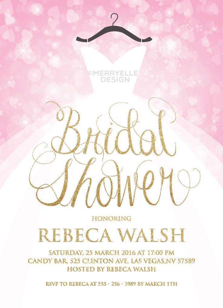 37 best Bridal Shower invitations images – Wedding Dress Shower Invitations