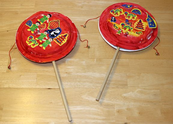 Chinese New Year drum craft for kids || Gift of Curiosity Maybe Thinking Day