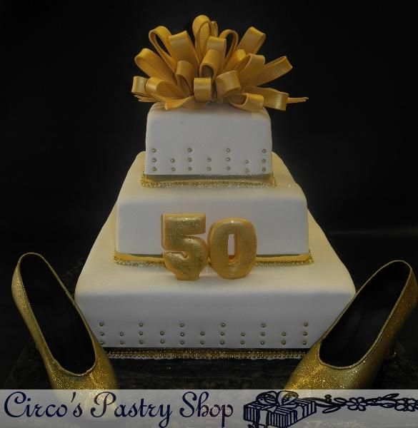 Cake Decoration Ideas For 50th Birthday : 50th Birthday Party Decorating Ideas gold/white Gold and ...