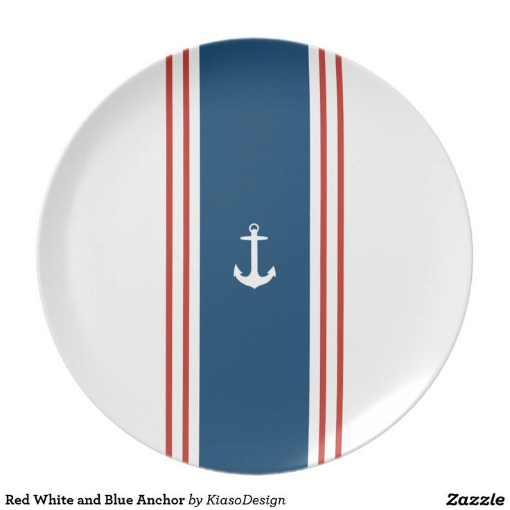 Red White and Blue Anchor Plates