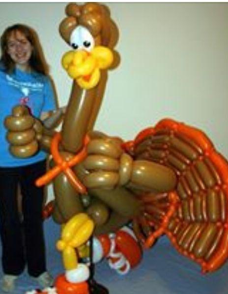 Balloon art turkey sculpture