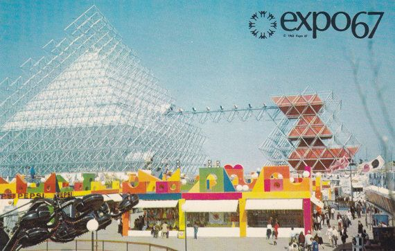 expo 67 postcard #canadian