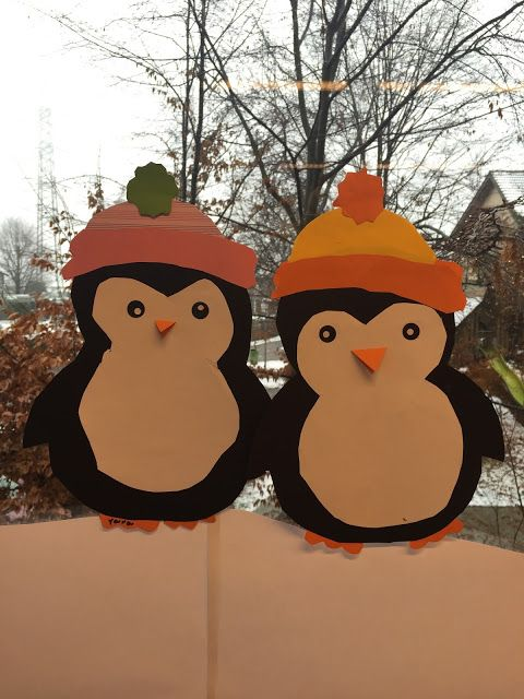 Cute Penguins For Your Winter Window Decoration Or Paper