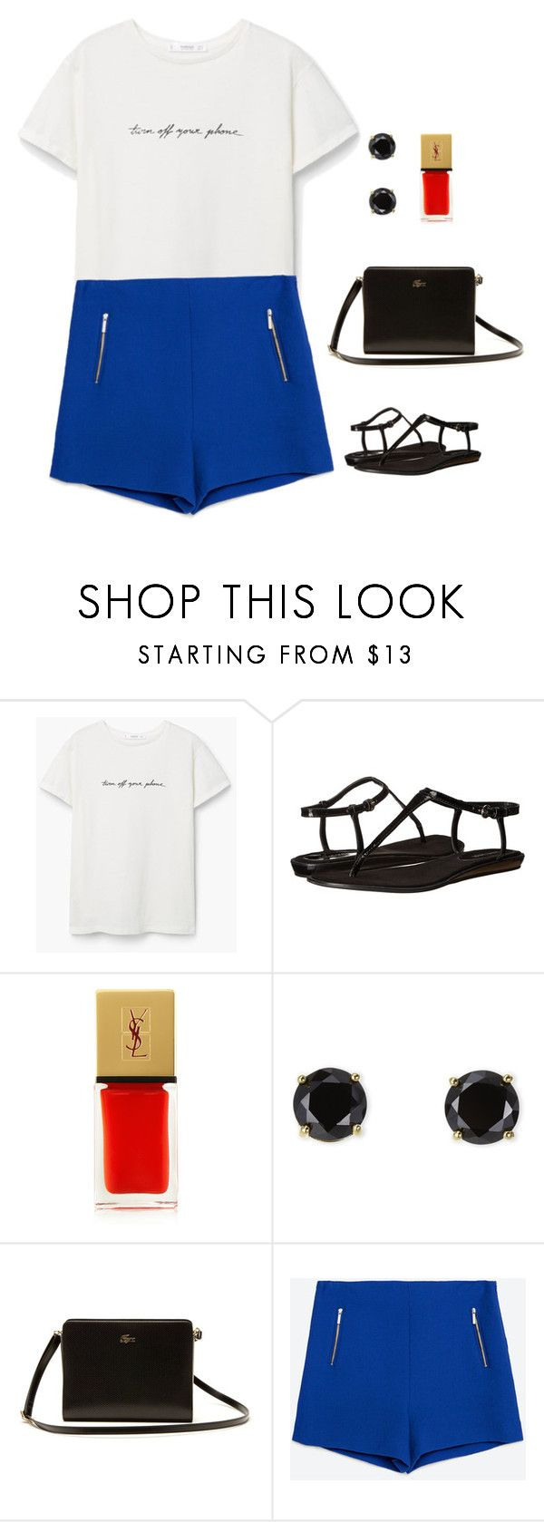 """""""tenue de ville 4"""" by ilhanselin ❤ liked on Polyvore featuring MANGO, Nine West, Yves Saint Laurent, Jardin, Lacoste and Zara"""