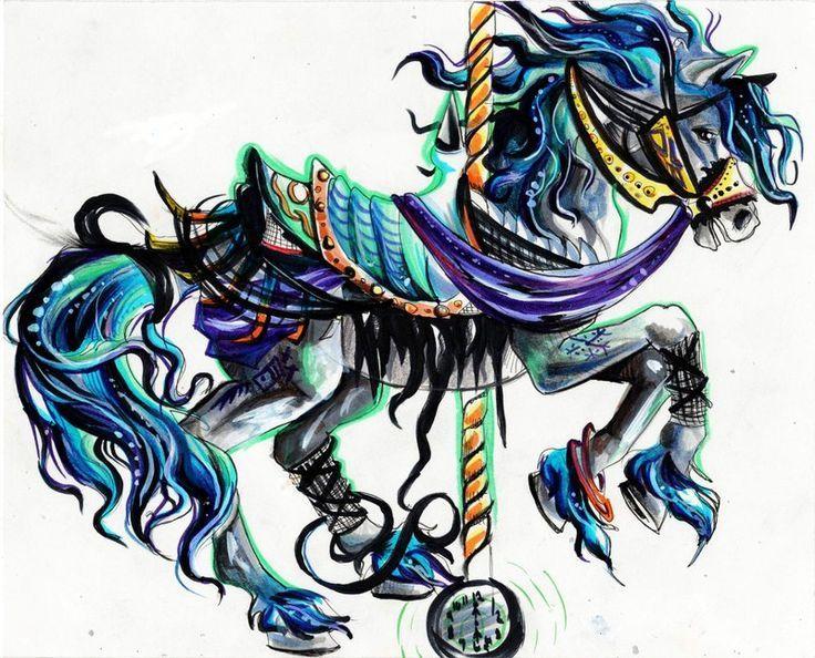 carousel horse tattoos | Carousel Horse by Lucky978.deviantart.com | Horse Tattoo Ideas