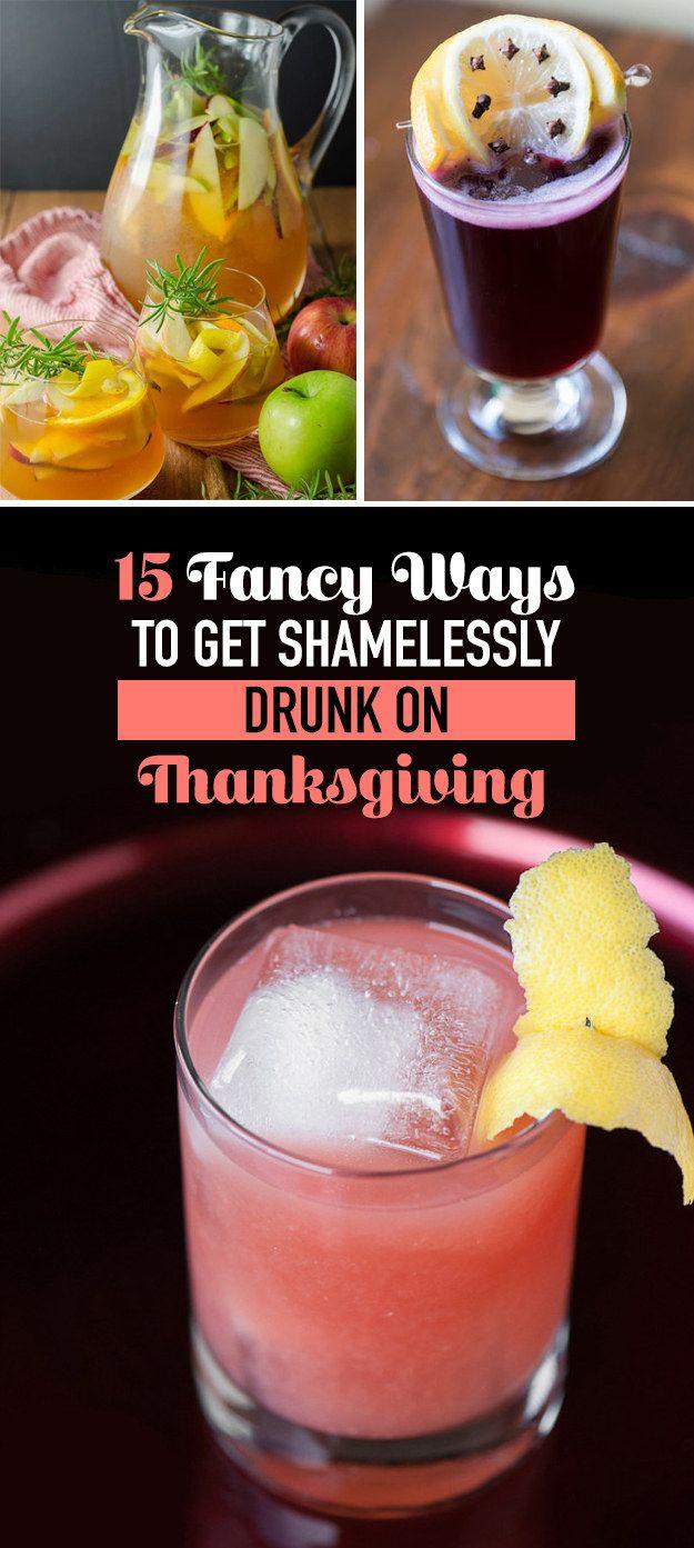 15 Fancy Ways To Get Shamelessly Drunk On Thanksgiving #timbeta #sdv #betaajudabeta