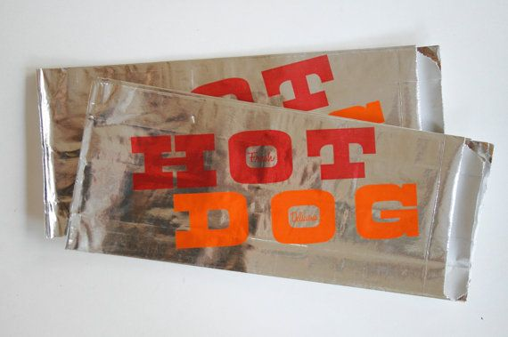 Vintage Style Foil Paper Lined Hot Dog Bags