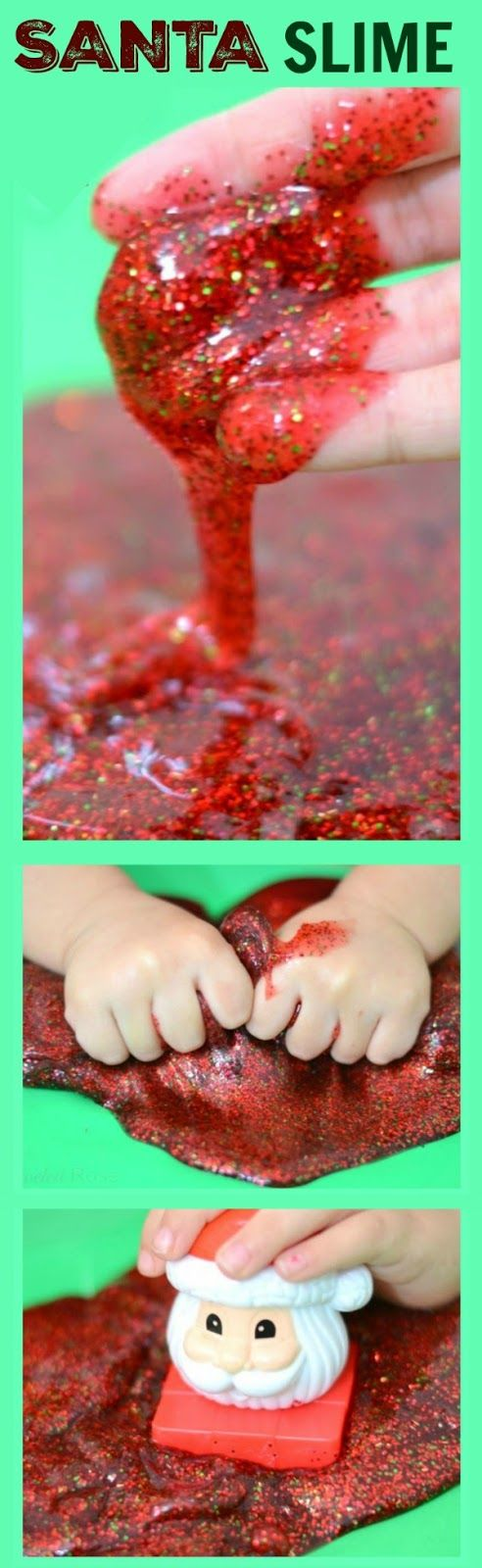 SANTA SLIME- so fun for kids & smells just like Christmas!                                                                                                                                                                                 More