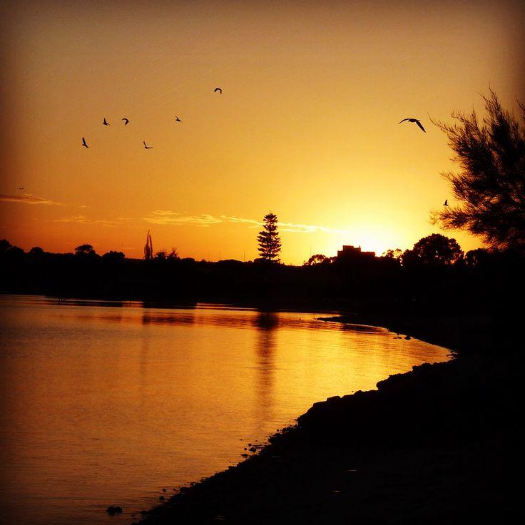 Swan River Perth at Sunrise.