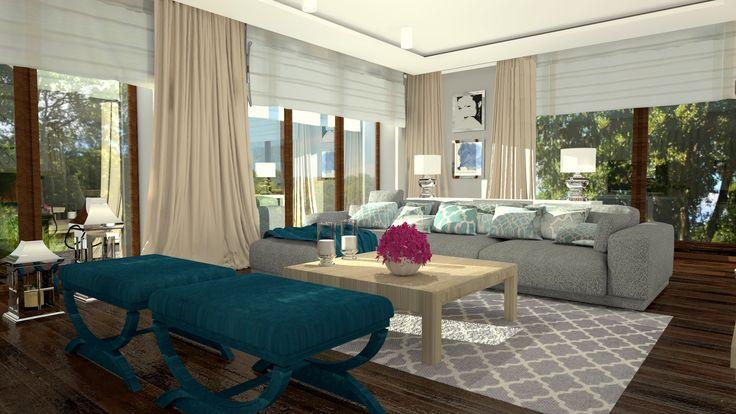 Living room/Salon w domu pod Bydgoszczą