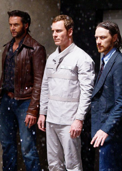 Hugh Jackman, Michael Fassbender, James McAvoy (X-Men: Days of Future Past)