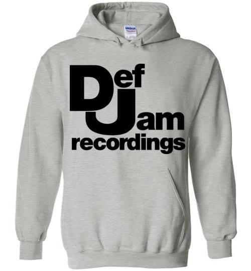 Def Jam Recordings Classic Hip Hop Run Dmc Beastie Boys Public Enemy Kanye West Rick Ross ,v2, Gildan Heavy Blend Hoodie