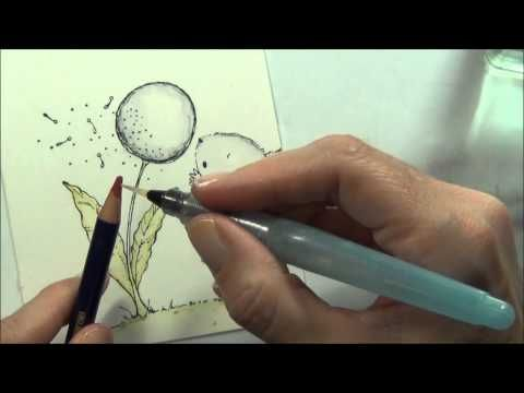 Make a Wish - Coloring 'lightly' with Inktense Pencils for POD!