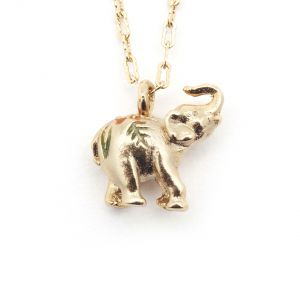 Elephant Tiny Pendant - Gold