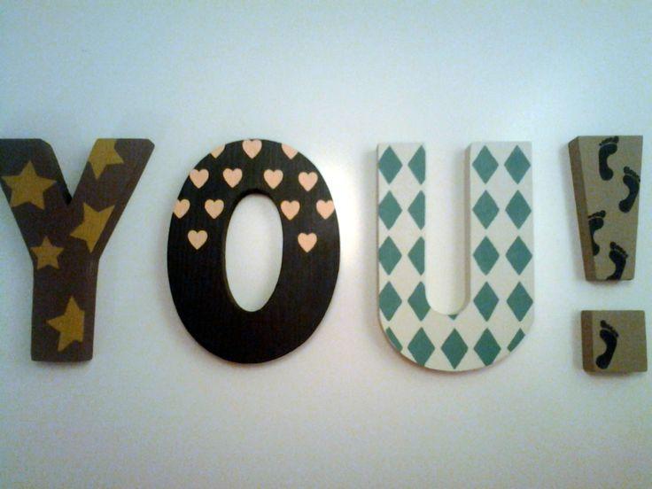 letras de madera decoradas a mano craft pinterest