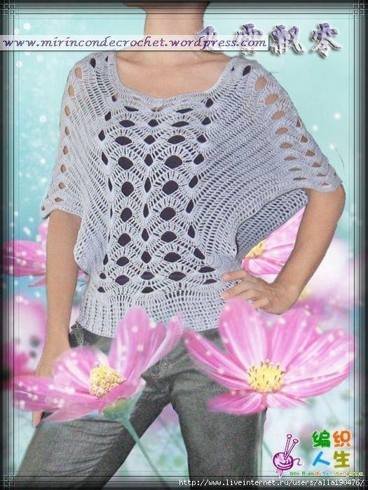 Noire Crafts: PAP Blusa mariposa a crochet