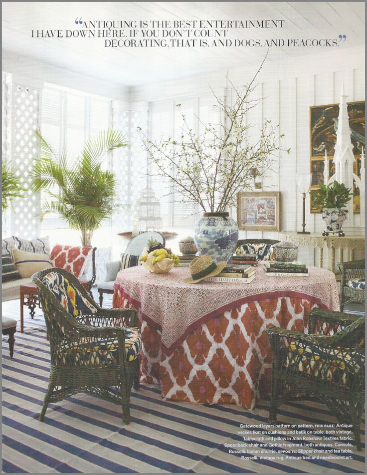 """ikat in this eclectic, """"rich hippie"""" roomDining Room, Decor Ideas, Furlow Gatewood, Home Interiors, Living Room Design, Colors, Interiors Design, Design Home, Sun Room"""