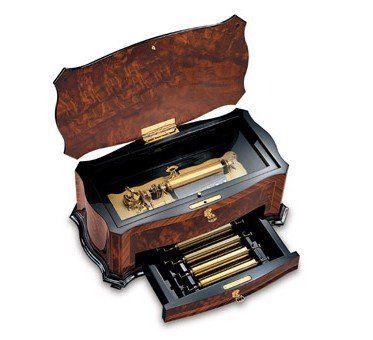Reuge Music Box Company Masterpiece 72 Note Interchangeable 5 Movement, 15 Tune Crescendo / Dolce Vi - Latest Jewellery Designs