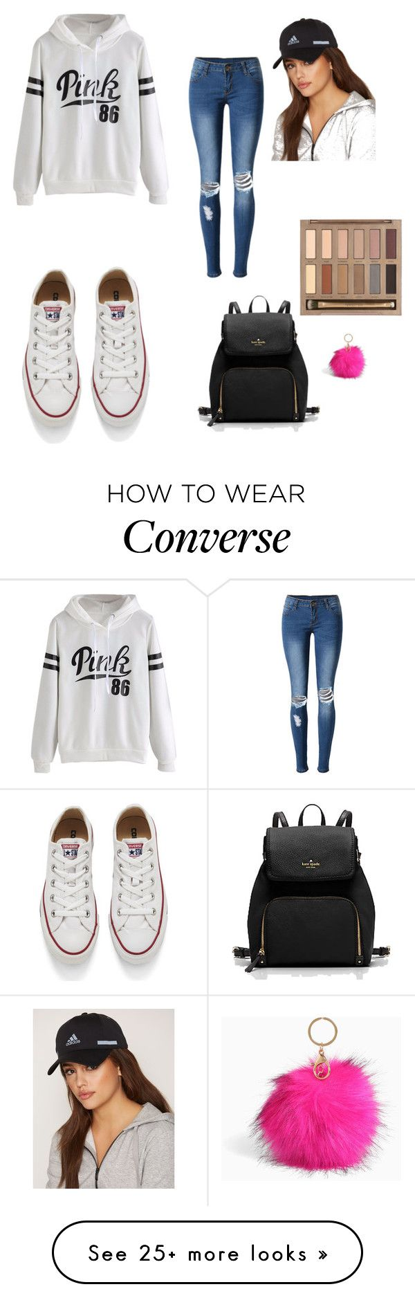 """New_post_24"" by emra-cehajic on Polyvore featuring Converse, WithChic, Urban Decay, Torrid and adidas"