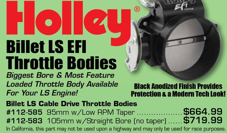 Holley Billet LS EFI Throttle Bodies Starting From $664.99 EA. Biggest Bore & Most Feature Loaded Throttle Body Available For Your LS Engine! Black Anodized Finish Provides Protection & a Modern Tech Look! https://aadiscountauto.ca/special/908/holley-billet-ls-efi-throttle-bodies.html #Holley #Billet #LS #EFI #Throttle #Bodies #HolleyBilletLS #EFIThrottleBodies #ThrottleBodies #aaperformance #aadiscount