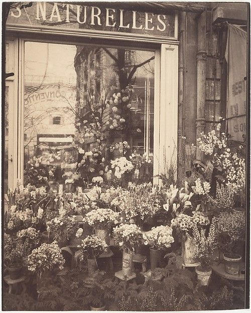 Eugène Atget (French, 1857–1927). Boutique Fleurs, 1925. The Metropolitan Museum of Art, New York. Gilman Collection, Purchase, Ann Tenenbaum and Thomas H. Lee Gift, 2005 (2005.100.344)