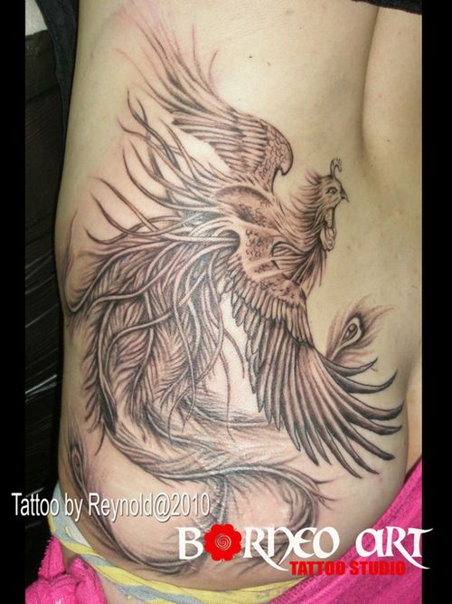 phoenix tattoos the syster designs phoenix tribal