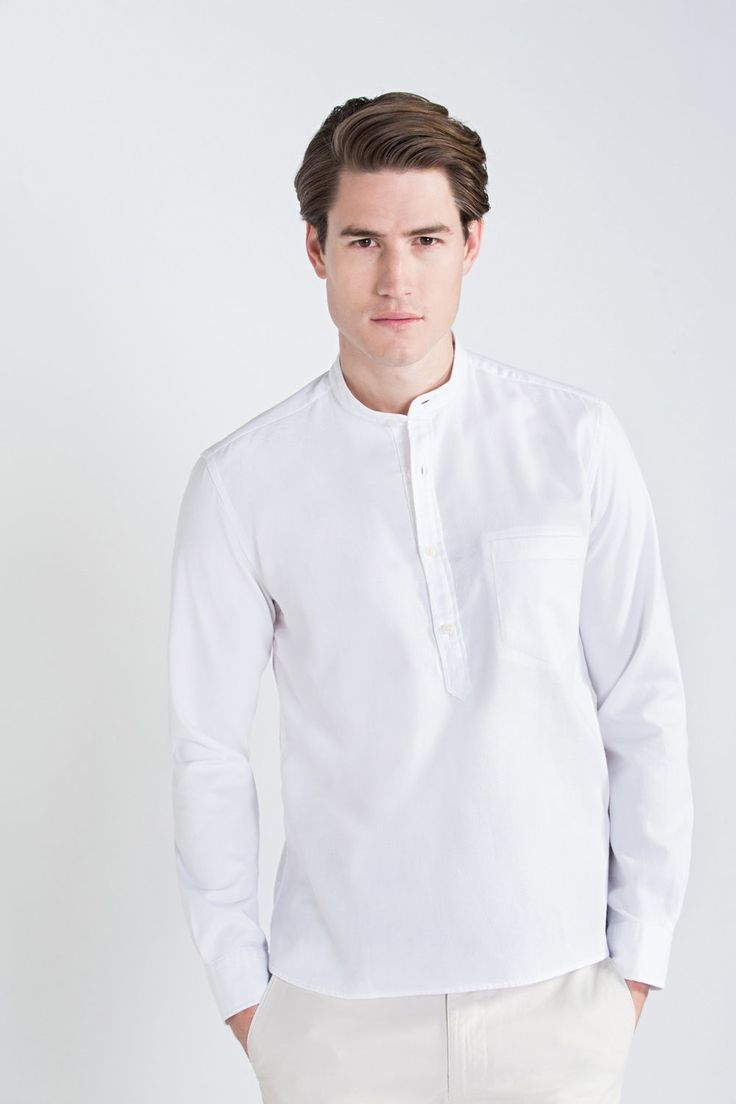 Camisa cuello mao tailored fit | Hombre | Fifty Factory
