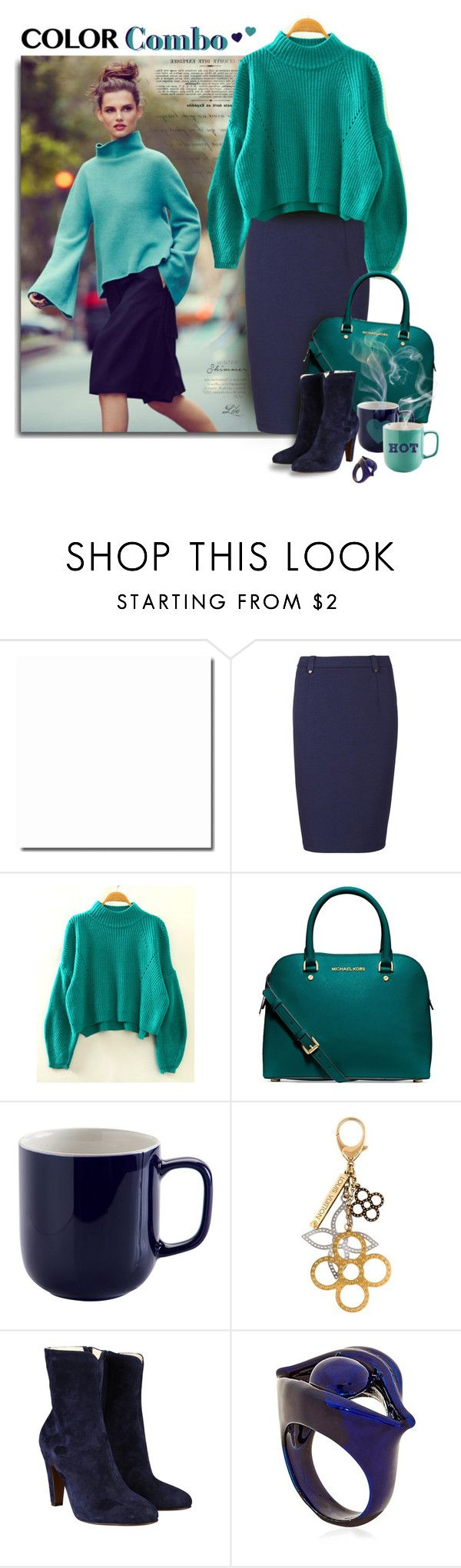 """Color Combo"" by fashion-architect-style ❤ liked on Polyvore featuring Sugarhill Boutique, Michael Kors, Louis Vuitton, L'Autre Chose and Virzi+De Luca"