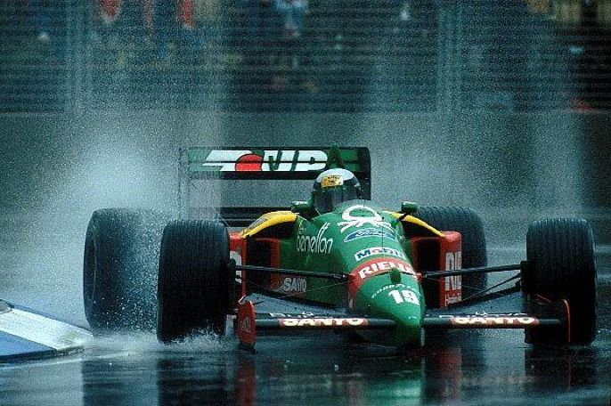 Alessandro Nannini drove well for 2nd in his Benetton-Ford-B189, Nannini 28 seconds behind race winner Boutsen.