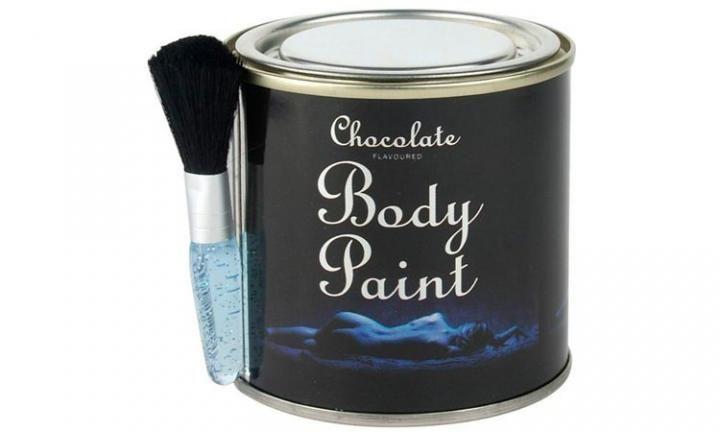 com esta tinta de chocolate comestível, vocês são a sobremesa