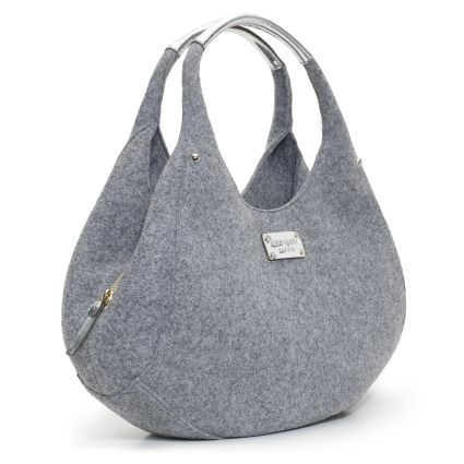 Inspiration Kate Spade Grey Felt Bag. Proud to say I own this beauty!
