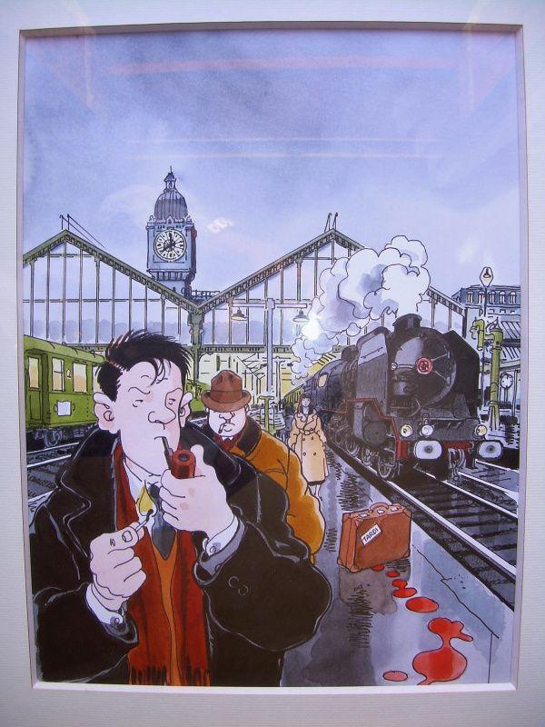 Couverture de la Vie du rail par Jacques Tardi - Oeuvre originale
