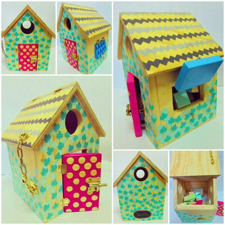 casita de cerraduras juguete de madera El Mundo de Juanita