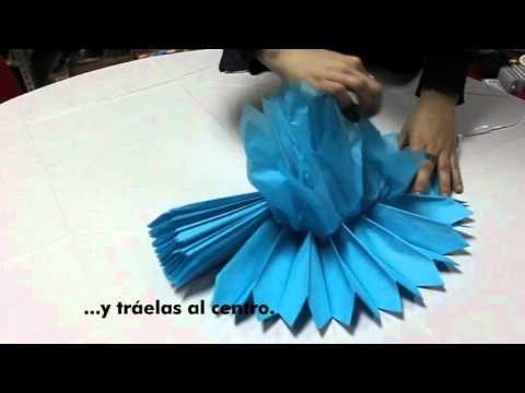Decorar fiestas (pompones de papel)